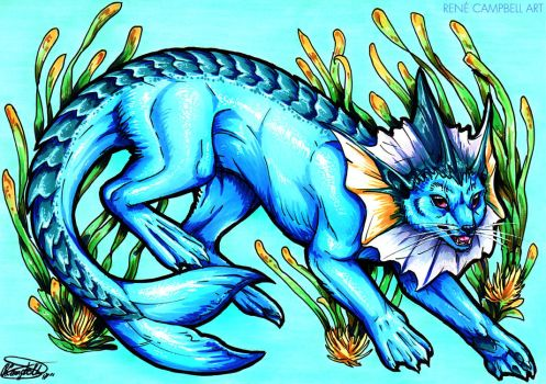 Evolve the Rainbow - Vaporeon by ReneCampbellArt