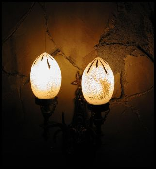 Tower Sconce in the Darkness by SpiderSong