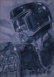 SYLVESTER STALLONE AS JUDGE DREDD A3 by Legrande62