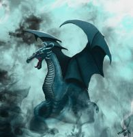 Turquoise Dragon by Miwwi