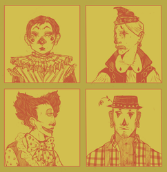 Clown Portraits by Miss-Linna