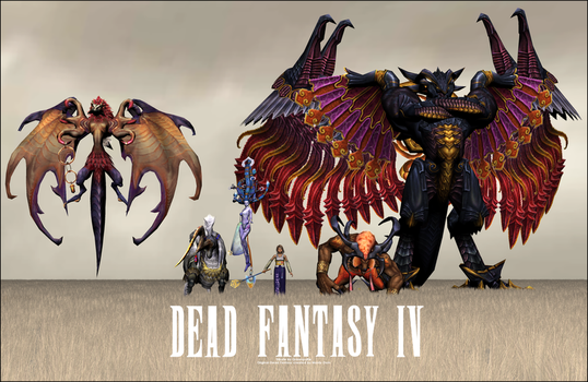 Tribute to Dead Fantasy IV by Greenpuffle