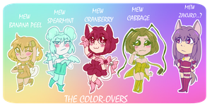 Rejected mew mews: The Color overs by sanchoyo