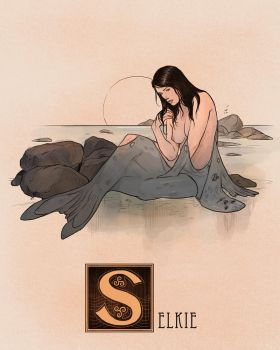 S is for Selkie by Deimos-Remus