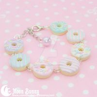 Cream Doughnut Bracelet by CuteMoonbunny