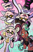 Squid Sisters vs Off the Hook by DragonBeak