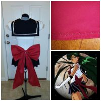 Remade Super Sailor Pluto back bow by JesserzCosplay