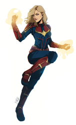 Captain Marvel by darwh