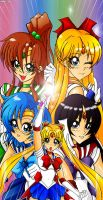 Sailor Scouts V by the-kid36