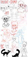 A VERY LITERAL SKETCH DUMP by Pajuxi