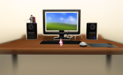 MMD Desktop stage by amiamy111