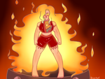 [impromptu collab] ANGERY FIRE WOMAN by BluePorl