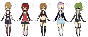 ADOPTABLES!!! :D Fairy tail ocs! ((OPEN!)) by Patherlily9113