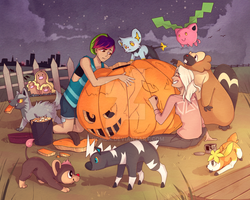 PTS Giant Halloween Pumpkin Carving by Hohda