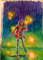 Dancing in the rain by Cakecatlady
