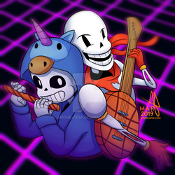 (Gift) Sans and Papyrus by Andre-APM