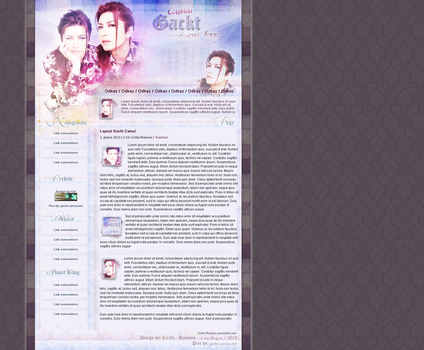 Gackt Layout by Cirilla-Riannon