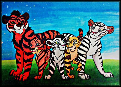 The tigers by Clara-Lesedi