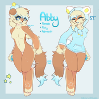 Abby anthro ref (mascot) by foxpets