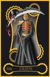 Steampunk tarot of Death by flamarahalvorsen