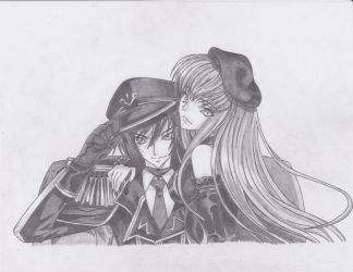 Lelouch and C.C. by TLOWE1992