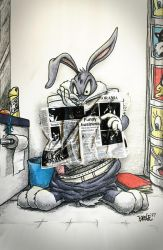Bugs takes a break.  Throwback art from 1997 by darrinbrege