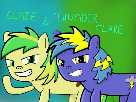 Glaze and ThunderFlare by hardstyleravers