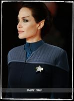 Angelina Jolie Green Eyed Vulcan Star Trek by gazomg