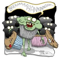 Zombie Muffin by Pensketch