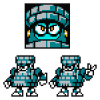 Renga (Brick?) Man 8-Bit Sprite Art by hfbn2
