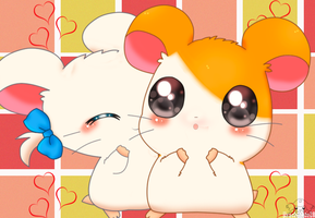 Hamtaro and bijou by jirachicute28