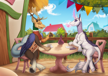 Tea time by Margony