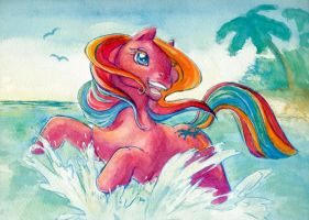 Tropical splash! by AnnaPommes