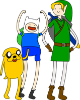 Finn Jake and Link by Theinkcat