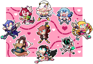 Yokai Love You! TOO!! Chibi Set by BLARGEN69