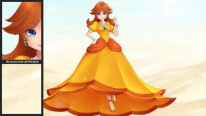 Princess Daisy Wallpaper Teaser by Kairui-chan