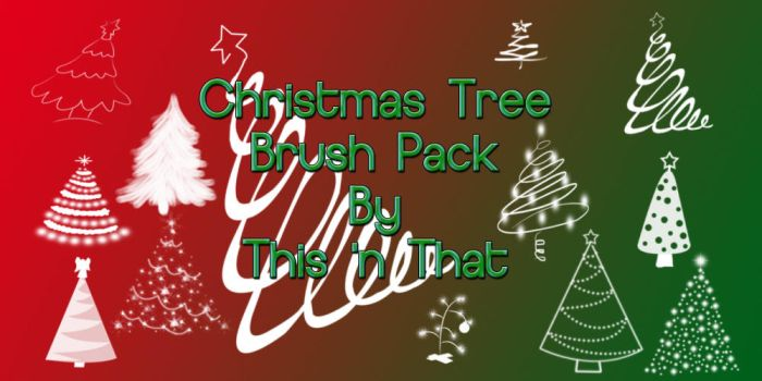 Christmas Tree Brush Pack by DesiraeR