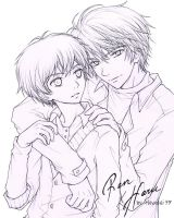 Super Lovers (lineart) by hayashi77