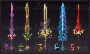 [CLOSED] Design Adopt Weapon - 2 by MhaxiR