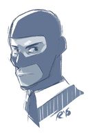 TF2 Spy sketch by Marraphy