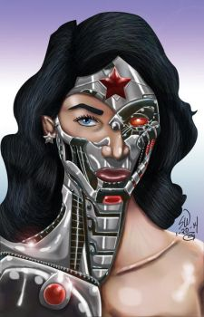 Cyborg Wonder Woman by man0ftomorrow
