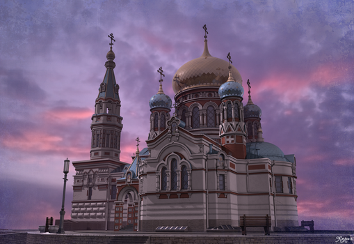 Cathedral - at sunset by RasheruSuzie