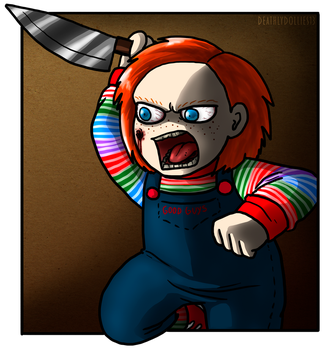 Angry Chucky is not a funny thing by Deathlydollies13