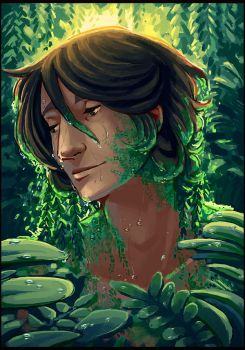 Moss Cradel by painted-bees