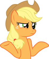 Applejack Vector: Does it look like I care? by theirishbronyx