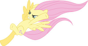 Fluttershy kick by Dusk2k