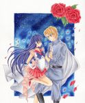 Sailor Mars and Jadeite Couple by jennylizmanga