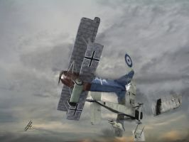 Berthold's Final Air Battle by zulumike