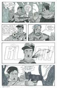 Myself in The walking dead comic #2 by Carlitoxmaister