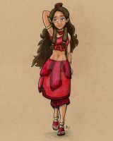 Fire Nation Katara by Art-of-Matthew